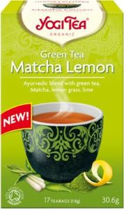 Green tea with lemon and MATCH BIO (17 x 1.8 g) - TEA YOGI