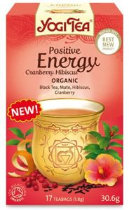 POSITIVE ENERGY YOGI TEA with CRANBERRY & HIBISCUS (17 x 1.8 g)