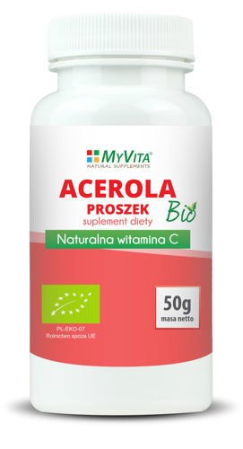 Acerola BIO natural vitamin C powder 50g from MyVita