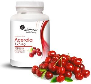 Acerola 125mg x 120 tab. Natural Vitamin C