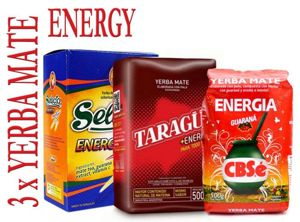 Set 3x Yerba Mate Energy