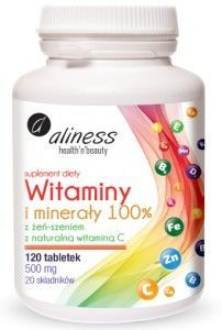 VITAMINS AND MINERALS FOR THE ENTIRE FAMILY 100%