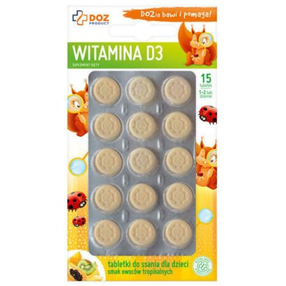 Vitamin D3 chewable tablets for children 15's
