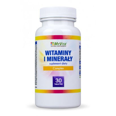 Vitamins and Minerals Complex 30 tablets from MyVita